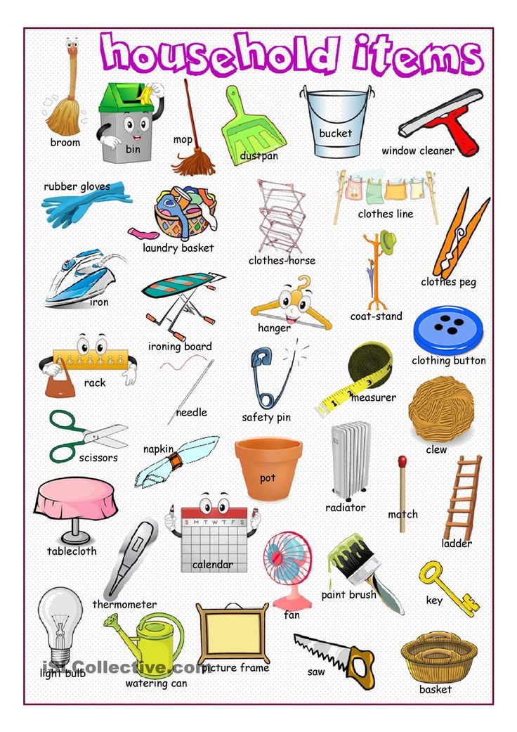 Household items english for life for Minimalist household items