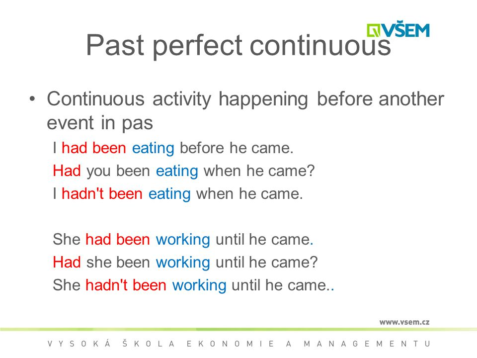 Past Perfect Countinuous Tense English For Life